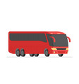 corner view bus on the road vector image vector image