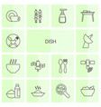 dish icons vector image vector image