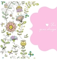 doodle flower simles vector image vector image
