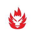 dragon fire logo vector image