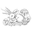Easter rabbit with easter egg