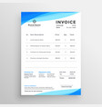 elegant blue minimal style invoice template vector image vector image