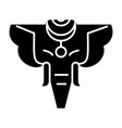 elephant india icon black vector image vector image