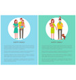 family mother father toddler and newborn daughter vector image vector image