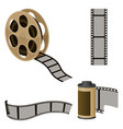 film roll sets elements for filmmaking vector image