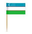 flag uzbekistan vector image vector image
