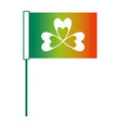 flag with clover traditional symbol vector image vector image