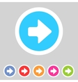 Flat game graphics icon arrow right vector image vector image