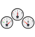 fuel gauge collection of round car dashboard 3d vector image