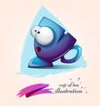 funny cute crazy cartoo characters cup vector image