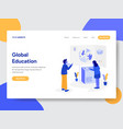global education concept vector image vector image