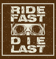 grunge style motorcycle t-shirt graphics ride vector image vector image