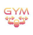gym or fitness logo sign vector image