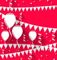 happy birthday background with balloons and vector image vector image