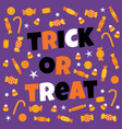 happy halloween sweet candy vector image