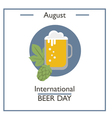 International Beer Day vector image