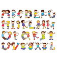 Kids Formed Alphabets Chart vector image