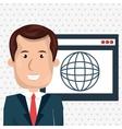 man page web globe vector image
