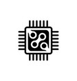 micro processor chip circuit flat icon vector image vector image