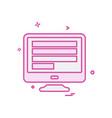 monitor icon design vector image