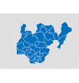 nigeria map - high detailed blue map with vector image vector image