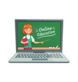 online education with personal teacher professor vector image