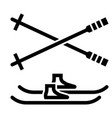 outline beautiful snowboard icon vector image vector image