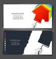 paint roller in hand business card vector image vector image
