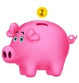 Piggy bank cartoon vector image