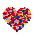 pink red yellow and blue rose petals vector image vector image