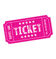 pink ticket vector image vector image