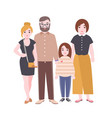 portrait of cute loving family mother father and vector image