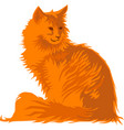 red cat vector image vector image