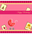 scrapbooking for baby girl vector image vector image