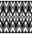 seamless black and white ikat ethnic pattern vector image vector image