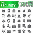 security glyph icon set protection symbols vector image vector image