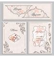 Set floral vintage ornament menu cards and vector image vector image