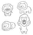 set of lion vector image vector image