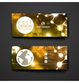 Set of modern design banner template in neon vector image