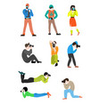 set of professional photographers of men and women vector image