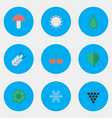 set of simple garden icons vector image