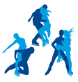 Skaters silhouettes vector image vector image