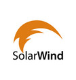 solar wind abstract solar wind icon logo concept vector image
