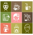 Spa and Wellness icons vector image vector image