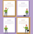 success and business posters vector image