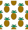 summer fresh pineapple stripe seamless repeat vector image