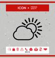 sun cloud line icon vector image