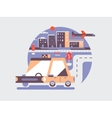Taxi car icon flat vector image