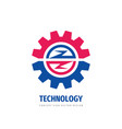 technology gear concept logo template design vector image