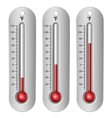 Thermometers different levels vector image vector image